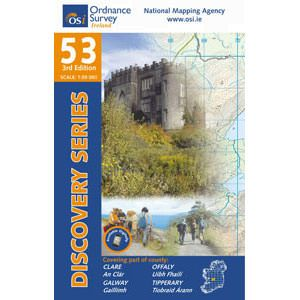 OSI 53 Clare, Galway, Offaly, Tipperary, Wanderkarte