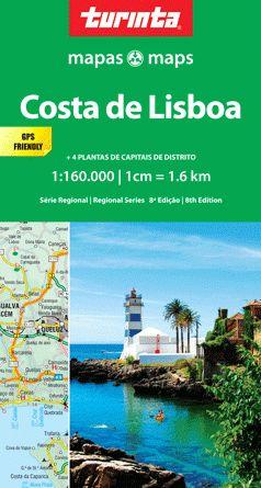 Portugal Regionale Straßenkarte SR4: Costa Lisboa 1:160.000, Turinta Mapas