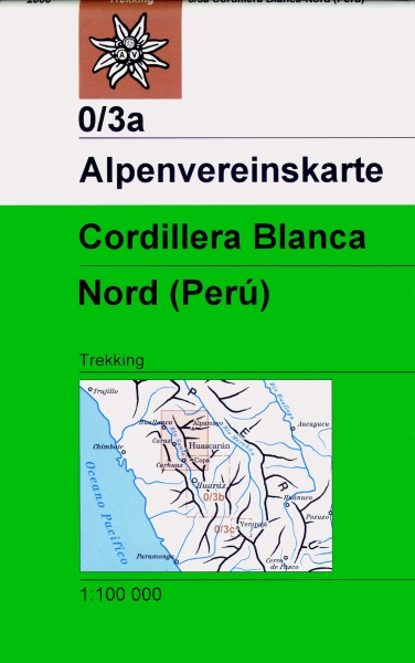 Alpenvereinskarte 0/3A Cordillera Blanca, Nordteil, 1:100.000