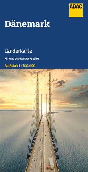 Dänemark Straßenkarte - ADAC 1:300.000