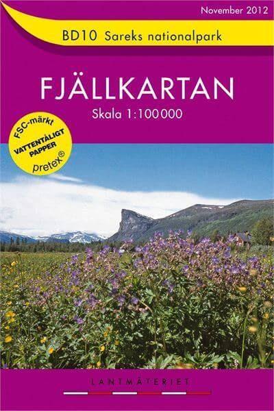 Fjällkartan BD10 Schweden Trekking- und Wintersportkarte 1:100.000