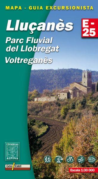 Llucanès - Parc Fluvial del Llobregat Wanderkarte 1:25.000 - Editorial Alpina