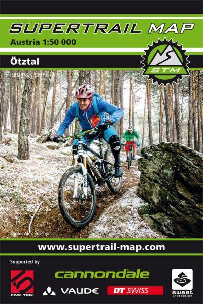 Supertrail Map Ötztal Mountainbike-Karte 1:50.000, Wasser- und reissfest (STM)