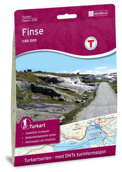 Norwegen topographische Wanderkarte Finse 1:50.000, Turkart 2241
