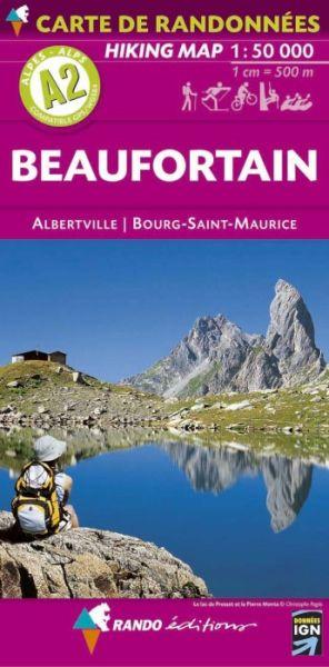Rando Blatt A2, Beaufortain Wanderkarte 1:50.000