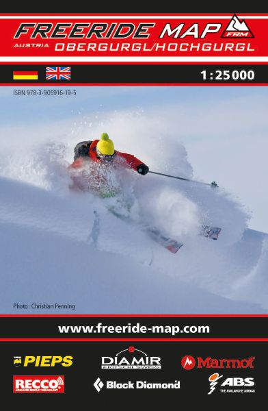 Freeride Map Obergurgl / Hochgurgl, Skitourenkarte 1:25.000