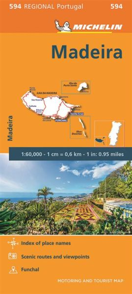 Michelin regional 594 Madeira 1:60.000