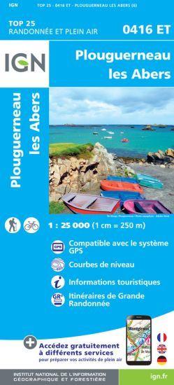 IGN 0416 ET Plouguerneau, Les Abers, Frankreich Wanderkarte 1:25.000