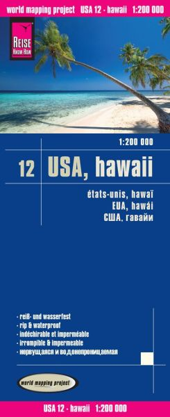 USA 12 Hawaii Landkarte 1:200.000, Reise Know-How