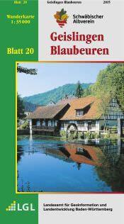 Geislingen - Blaubeuren Wanderkarte 1:35.000 Schwäbischer Albverein
