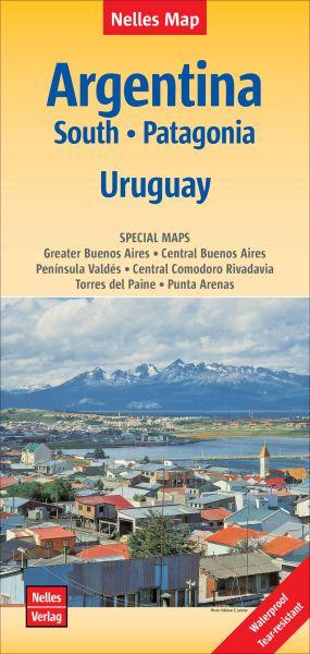 Nelles Maps, Süd Argentinien - Patagonien - Uruguay 1:2.500.000