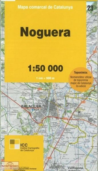 Noguera, Katalonien topographische Karte, Spanien 1:50.000, ICC 23