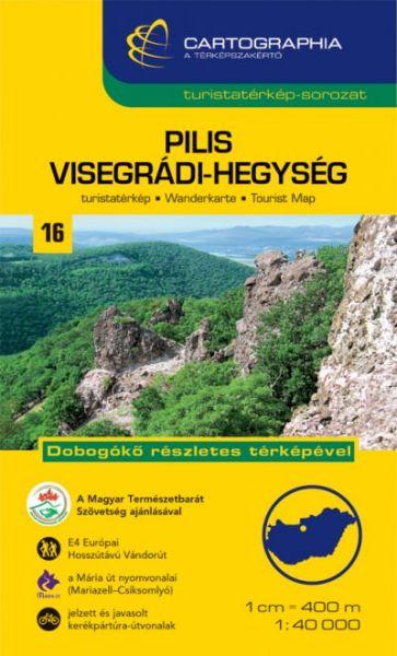 Ungarn Wanderkarte: Pilis- und Visegráder Gebirge 1:40.000