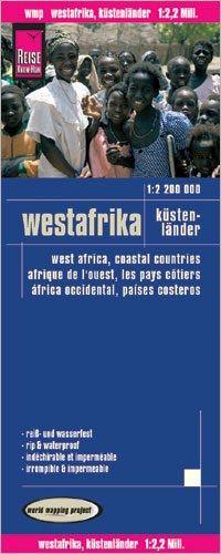 Westafrika: Küstenländer Landkarte 1:2.200.000, Reise Know-How