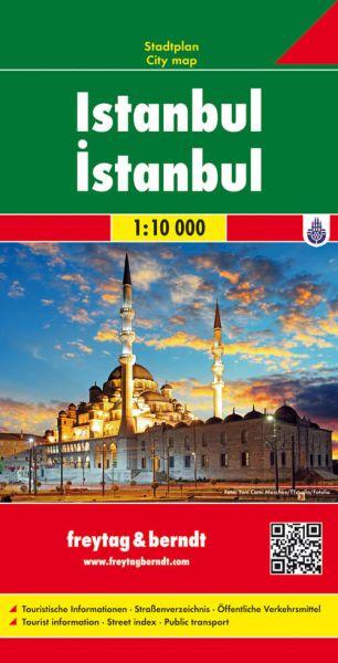 Istanbul, Stadtplan 1:10.000, Freytag und Berndt