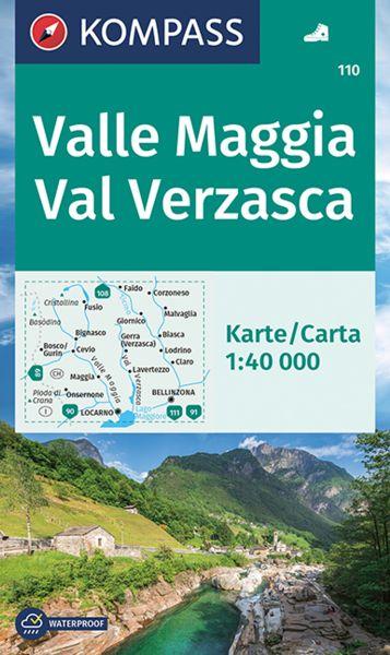 Kompass Karte 110, Valle Maggia, Val Verzasca 1:40.000, Wandern