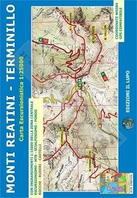 Wanderkarte für Monti Reatini - Terminillo 1:25.000 - Il Lupo Nr. 15