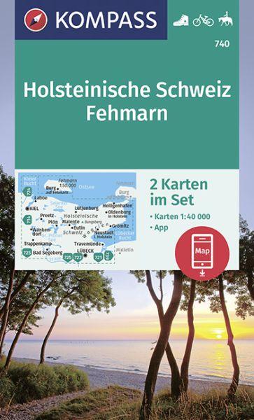 Kompass Karte 740, Holsteinische Schweiz 1:50.000, Wandern, Rad fahren
