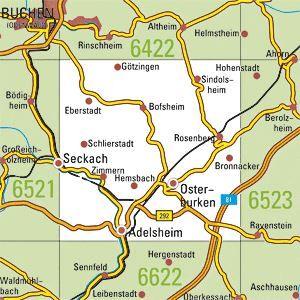 6522 ADELSHEIM topographische Karte 1:25.000 Baden-Württemberg, TK25