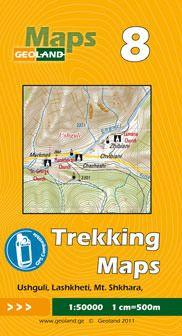 Ushguli, Lashkheti, Mt. Shkhara - Georgien Trekkingkarte 1:50.000 – Geoland 8