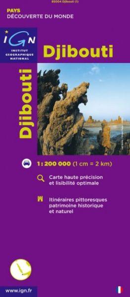 Dschibuti / Djibouti, Straßenkarte 1:200.000, IGN