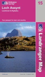 Landranger 15 Loch Assynt Wanderkarte 1:50.000 - OS / Ordnance Survey