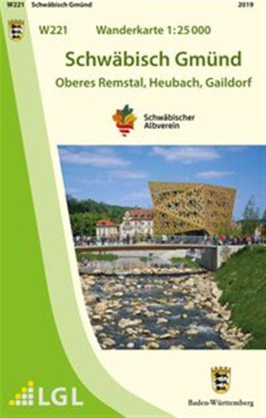 Schwäbisch Gmünd W221, Wanderkarte 1:25.000 Schwäbischer Albverein