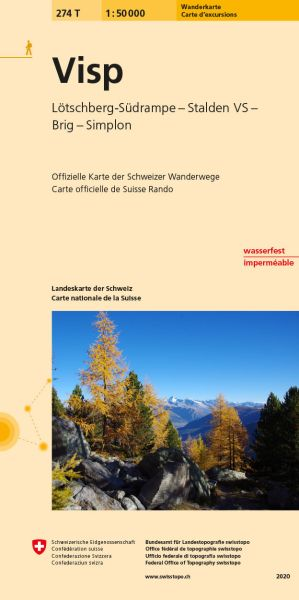 274 T Visp Wanderkarte 1:50.000 - Swisstopo