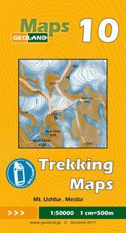 Mt. Ushba, Mestia - Georgien Trekkingkarte 1:50.000 – Geoland 10