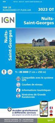 IGN 3023 OT Nuits-St-Georges, Frankreich Wanderkarte 1:25.000