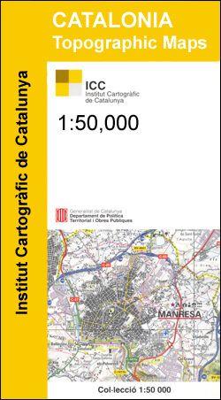 Spanien Katalonien Karte.Priorat Katalonien Topographische Karte Spanien 1 50 000 Icc 29