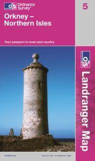 Landranger 5 Orkney - Northern Isles Wanderkarte 1:50.000 - OS / Ordnance Survey