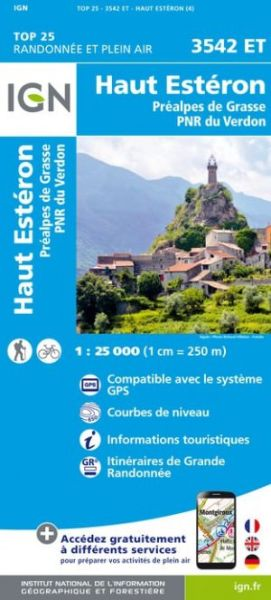 IGN 3542 ET Haut Esteron, Frankreich Wanderkarte 1:25.000