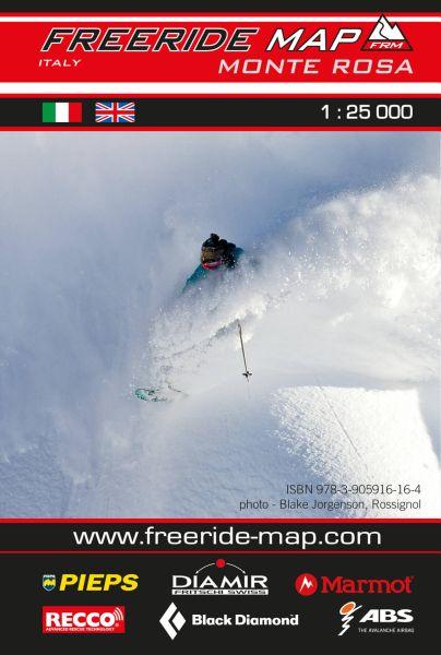 Freeride Map Monte Rosa (Italien), Skitourenkarte 1:25.000