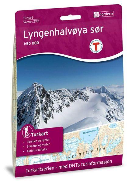 Lyngenhalvoya Süd / Lyngenhalvøya Süd Wanderkarte 1:50.000 – Norwegen, Turkart 2781 von Nordeca