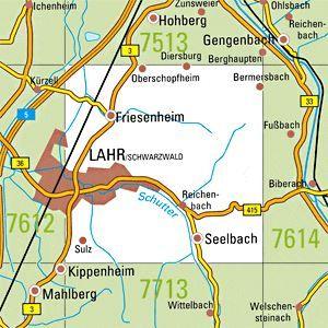 7613 LAHR / SCHWARZWALD OST topographische Karte 1:25.000 Baden-Württemberg, TK25