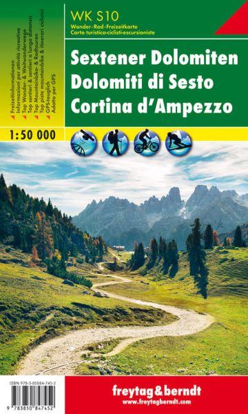 WK S 10, Sextener Dolomiten, Wanderkarte 1:50.000, Freytag und Berndt