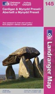 Landranger 145 Cardigan & Mynydd Preseli Wanderkarte 1:50.000 - OS / Ordnance Survey