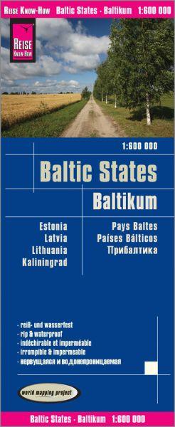 Baltikum Landkarte 1:600.000, Reise Know-How