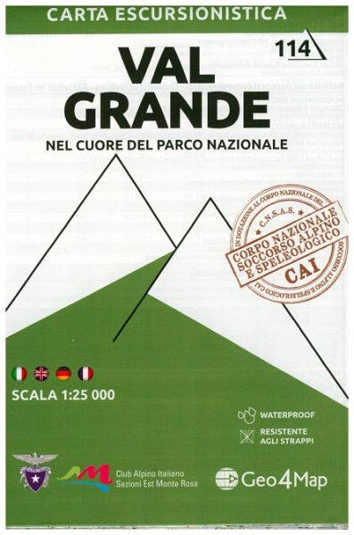 Piemont Wanderkarte: Val Grande 1:25.000 – Geo4Map Bl. 14