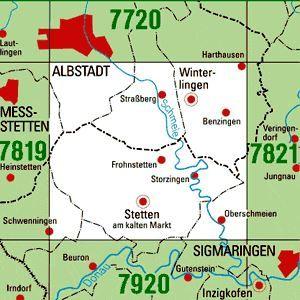 7820 WINTERLINGEN topographische Karte 1:25.000 Baden-Württemberg, TK25