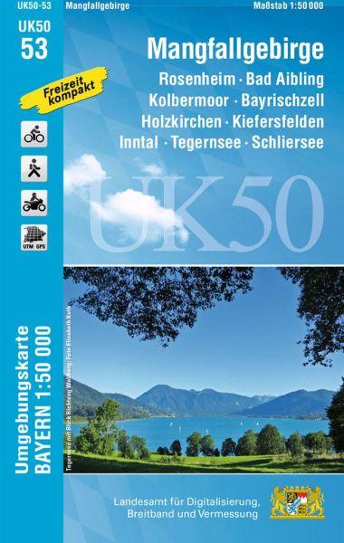 UK50-53 Mangfallgebirge Rad- und Wanderkarte 1:50.000