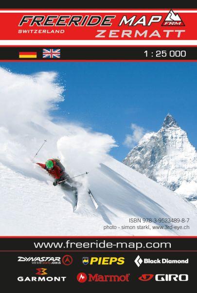 Freeride Map Zermatt, Skitourenkarte 1:25.000