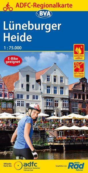 ADFC-Regionalkarte, Lüneburger Heide, Radwanderkarte