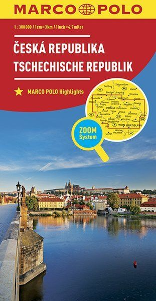 Tschechische Republik Landkarte 1:300.000 - Marco Polo