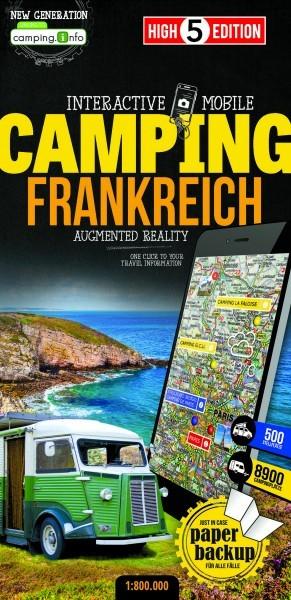 Campingkarte Frankreich 1:800.000, High5Edition