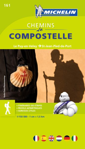 Michelin Chemins de Compostelle/Jakobsweg 161 Le Puy-en-Velay bis St-Jean-Pied-de-Port Wanderkarte