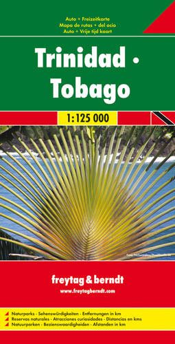 Trinidad, Tobago, Straßenkarte 1:125.000, Freytag und Berndt