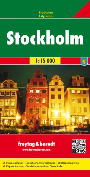 Stockholm, Stadtplan 1:15.000, Freytag und Berndt