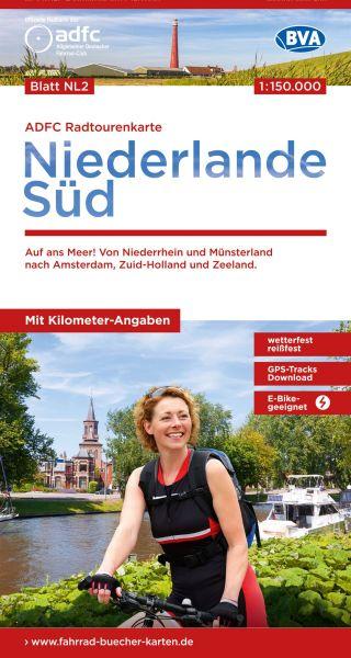 ADFC Radtourenkarte NL2 Niederlande Süd, Radkarte 1:150.000